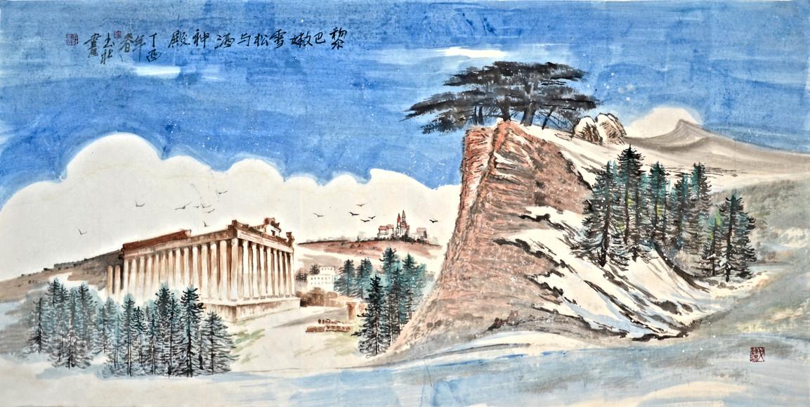黎巴嫩雪鬆與酒神殿