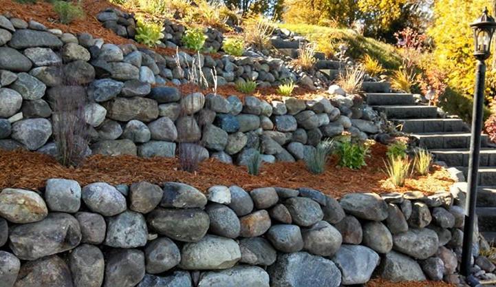 Boulder Tiered Walls
