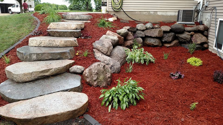 Stone Steps and Wall