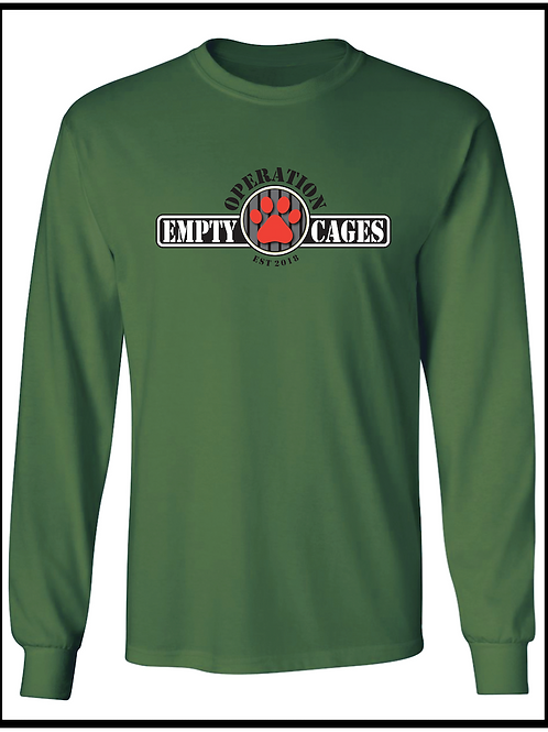 Operation Empty Cages Logo Long Sleeve Tee