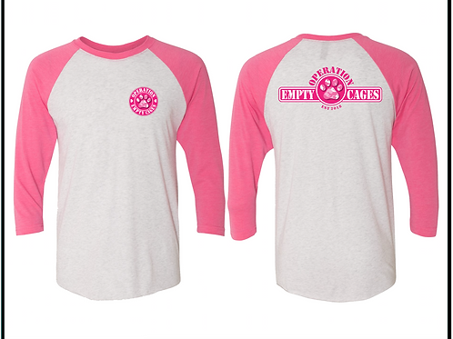 Operation Empty Cages Pink Camo Raglan