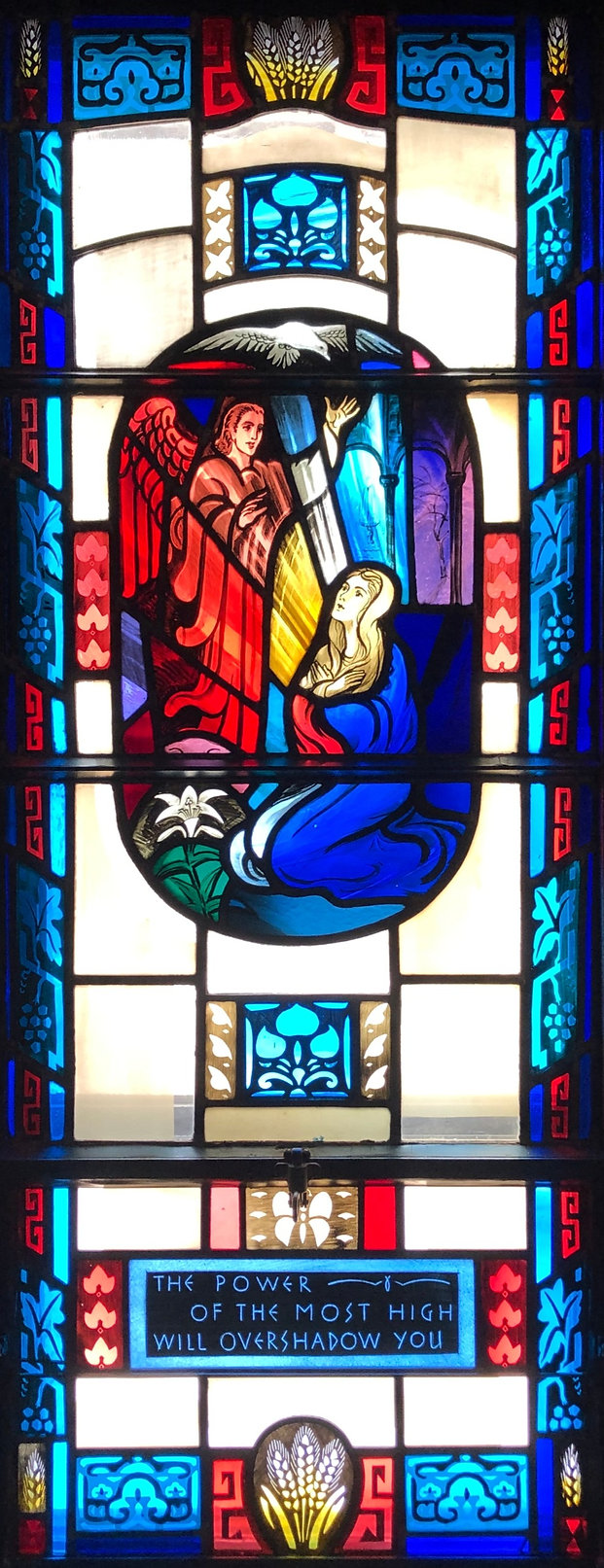 Sanctuary Stained Glass Left