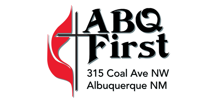 Cross and Flames ABQ First Logo