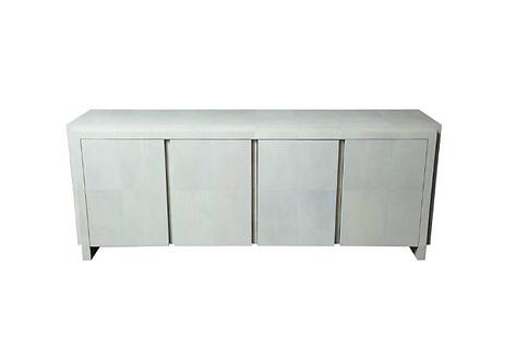 Spectacular Genuine Shagreen Sideboard in Pale Water Grey