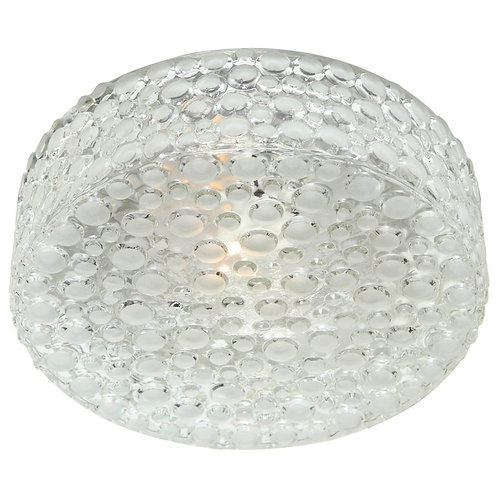 Vintage German Dotted Glass Flush Mount Light