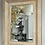 Thumbnail: Chic Goatskin and Shagreen Mirror with Brass Trim