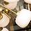 Thumbnail: Italian Milk Glass and Brass Sputnik