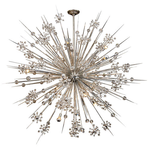 Huge Custom Crystal Starburst Sputnik Chandelier