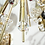 Thumbnail: Brass and Austrian Crystal Sputnik Chandelier with Black Centre Spheres