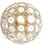 Thumbnail: Extra Large White Murano Glass Disc Sputnik Chandelier