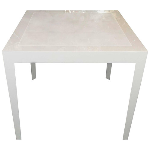 Ivory Lacquer and Water Grey Shagreen Game Table