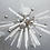 Thumbnail: Custom Brazilian Rock Crystal Flush Mount Light Fixture