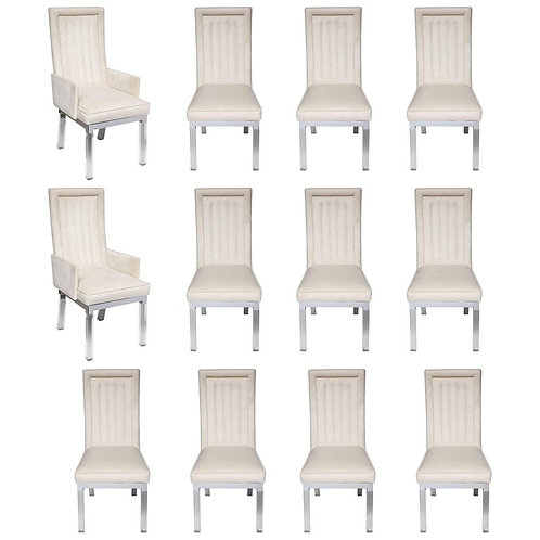 Set of 12 vintage Charles Hollis Jones dining chairs.