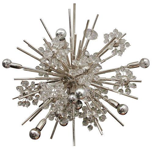 Large Custom Handmade Crystal Sputnik