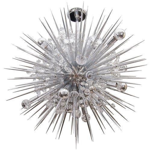 Custom Crystal Sputnik Chandelier with Spikes