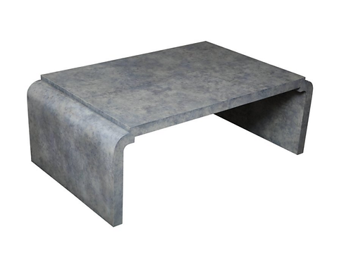 Amethyst Tinted Goat Skin Cocktail Table