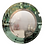 Thumbnail: Round Beveled Mirror with Green Glass Border in the Manner of Karl Springer
