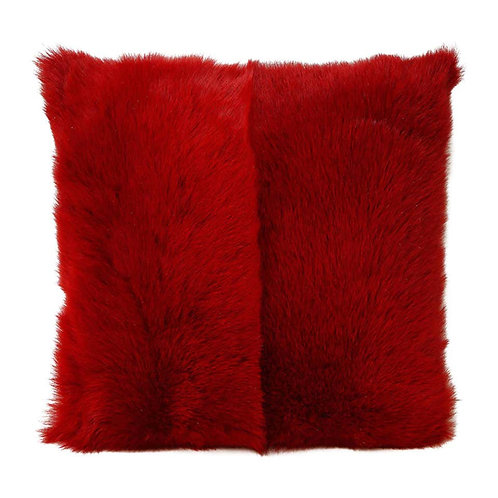 Toscana Long Hair Shearing Pillow in Red Color