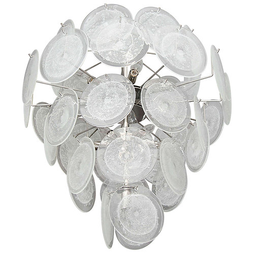 Clear Disc Chandelier in the Style of Vistosi