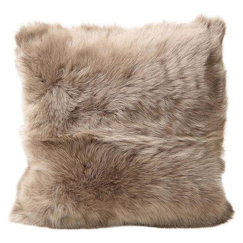 Double Sided Toscana Shearling Pillow in Taupe Color