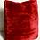 Thumbnail: Custom Red Genuine Sheared Beaver Pillow