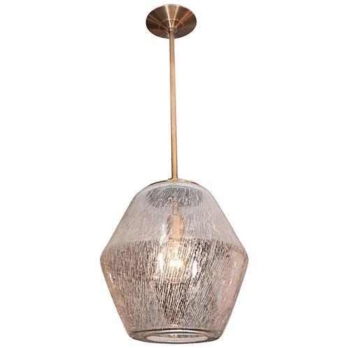 Etched Glass Globe Pendant