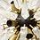 Thumbnail: Stunning Murano Glass Spike Sputnik Chandelier