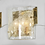 Thumbnail: 1970s Kalmar Glass Sconce with Brass Frame