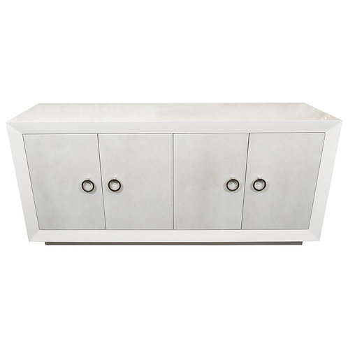 Custom Lacquered Sideboard with Faux Shagreen Doors