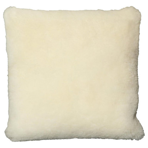 Genuine Shearling Pillow in Cream Color