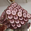 Thumbnail: Large Pruple Murano Glass Disc Chandelier in Double Pyramid Shape