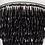 Thumbnail: Pair of Elegant Black Crystal Fringe Sconces