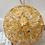 Thumbnail: Golden Murano Mini Glass Disc Sputnik Chandelier