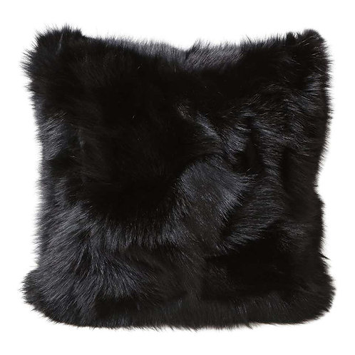 Double Sided Toscana Shearling Pillow in Black Color