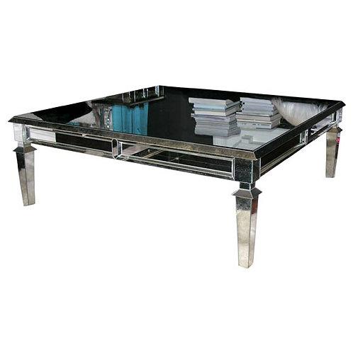Custom Neo Classical Mirrored Coffee Table