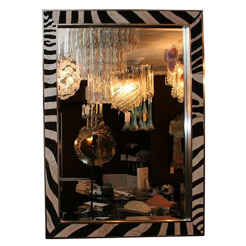 Custom Rectangular Zebra Mirror