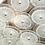Thumbnail: Clear Bubble Murano Glass Disc Flush Mount Light