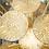 Thumbnail: Gold Murano Glass Parasol Sputnik Chandelier