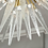 Thumbnail: Clear Murano Glass Spike Sputnik Flush Mount