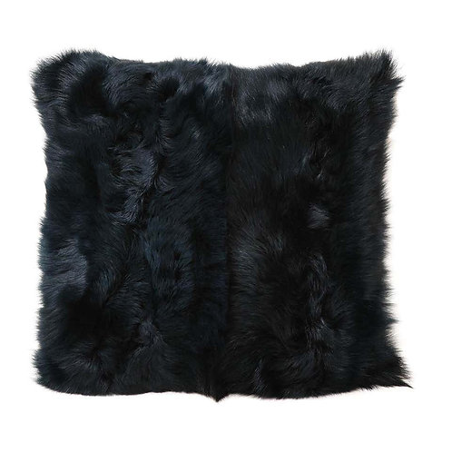 Toscana Long Hair Shearing Pillow in Deep Forest Color