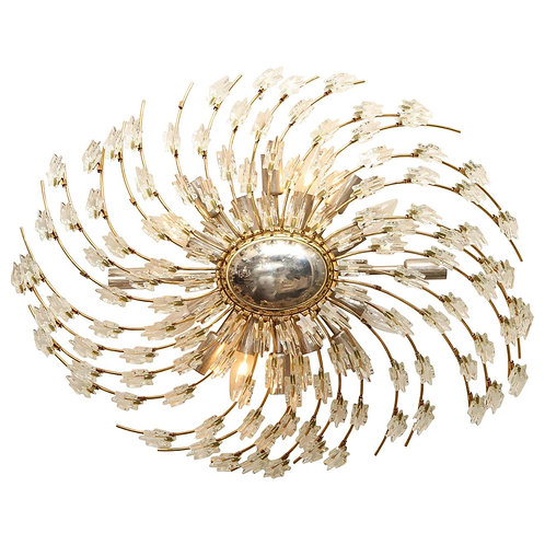 Swirling Italian Glass Wall Light Fixture