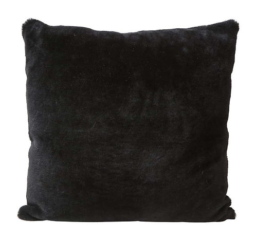 Double Sided Merino Shearing Pillow in Black Color
