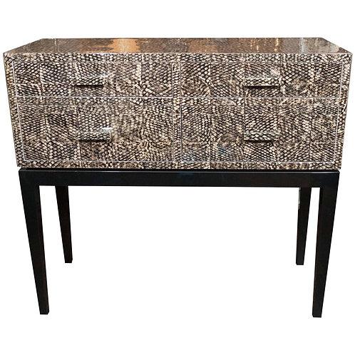 Goldfish Skin Veneer Console Table