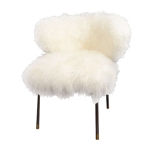 Custom Mongolian Fur Chair