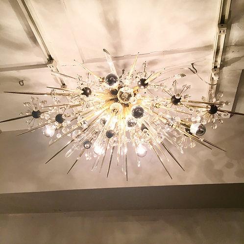 Custom Half Austrian Crystal Sputnik