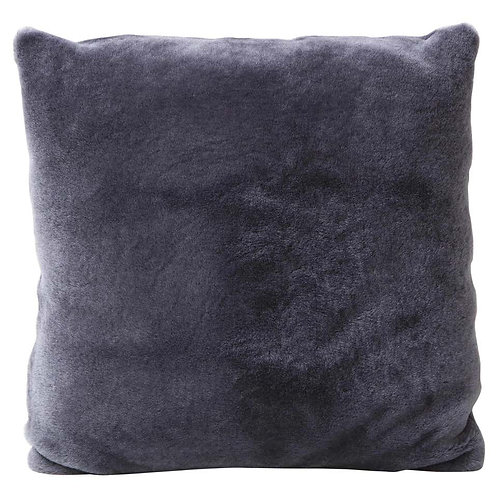 Double Sided Merino Shearing Pillow in Purple Grey Color