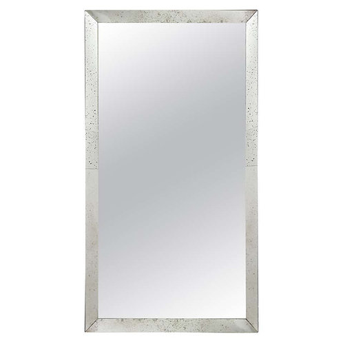 Full Length Mirror in Antiqued Mirror Frame