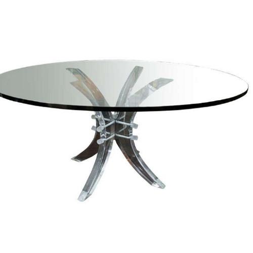 Charles Hollis Jones Lucite Pedestal Table