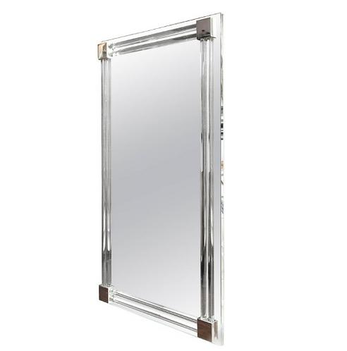 Custom Large Glass Rod Mirror