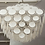 Thumbnail: Large White Murano Glass Disc Chandelier in Double Pyramid Shape